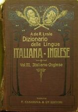 L 5.617 DIZIONARIO DELLE LINGUA ITALIANO INGLESE DI A DE R LY 1921