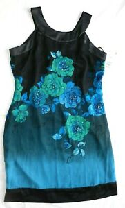 Womens Dress SIGNATURE by ROBBIE BEE size 12 NEW 100% silk