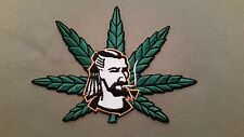 pot leaf guy weed embroidered marijuana iron on patch