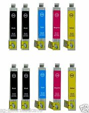 10 CARTUCCE PER STAMPANTE EPSON STYLUS DX8400 DX8450 DX7000F DX6050 DX9400F