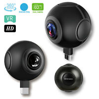 360° Dual Fisheye Lens 1080P HD Real-Time VR Panorama Camera for Android US