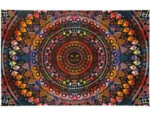 3D Rainbow Cat Mini Tapestry Tie Dye Kitty Fabric Cotton Poster 30 x 45 inches