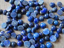 Cabochon Gemstone Lapis Lazuli Blue Grade B 4mm (pkg 95) Round
