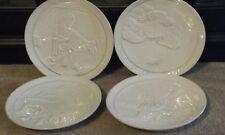 4 Vintage Frankoma Pottery  Christmas Collectors  Plates 1969, 1977, 78, 79