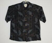 Banana Cabana Hawaiian Floral 100% Silk Shirt Men's XL Spare Buttons