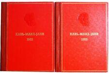 DDR EAST GERMANY 1953 2x Karl Marx Year Booklet Büchlein Communist Kommunist