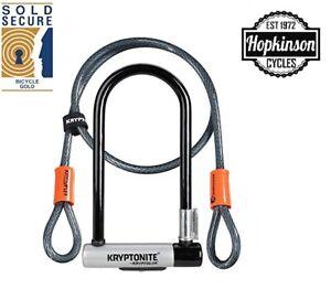 Kryptonite KryptoLok Kryptoflex  U-Lock D Lock with cable SOLD SECURE GOLD