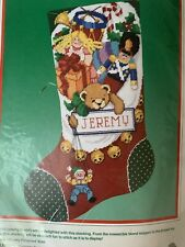 Chock Full of Toys Needlepoint Christmas Stocking Kit Dimensions Sealed 16 in