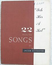 Schaefer Ich Her a Kol 22 Selected Songs Voice Piano Hebrew