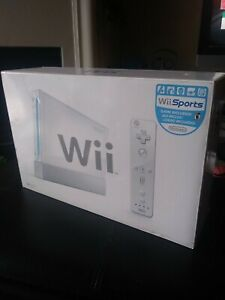 Nintendo Wii White Game System, Wii Sports Sealed/ Brand New NIOB