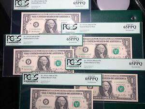 2006 $1.00 FRN F00008318-8322I  (LOW #SN) 65Q