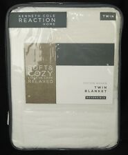 Kenneth Cole Reaction Home Soft & Cozy Cotton Woven Twin Blanket Reversible New