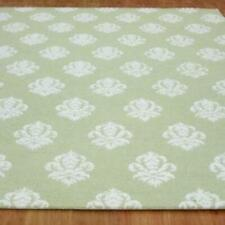 Damask Green Color Floral Loop & Cut Hand Tufted Modern Stryle Woolen Area Rug