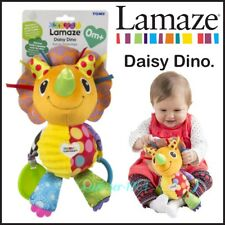 Lamaze Daisy Dino Clip On Pram & Pushchair Baby Toy Patterns & Paws Crinkle Feet