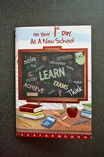 KIDS ON YOUR 1ST FIRST DAY AT STARTING SCHOOL CELEBRATION CONGRATULATION CARD