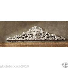 Toscano Remoulage Lion Antique Stone Finished Sculptural Wall Pediment