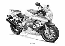 Honda CBR Fireblade 1992 fine art print by Billy