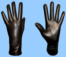 NEW WOMENS size 9 or 3XL UNLINED GENUINE BLACK LAMBSKIN-KID LEATHER DRESS GLOVES