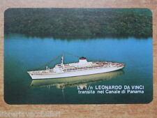 Vecchio calendarietto 1972 nave LEONARDO DA VINCI Canale di Panama Italia del di