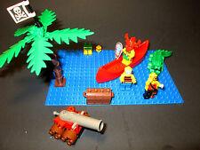 1994 lego Islander Canoe and Warrior alligator cannon