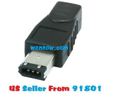 IEEE 1394  6 Pin Male To 4 Pin Female Firewire Adapter