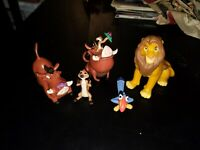 Walt Disney's The Lion King Toy Cake Toppers PVC Figurine Applause Lot of 5