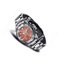 100 m (10 ATM) Armbanduhren aus Edelstahl mit 24-Stunden-Zifferblatt