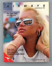 More details for qantas airways airline inflight magazine january/february 1989 kylie minogue