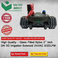 "HighQuality- Nylon 50mm 2 inch 2"" DN 50 Irrigation Solenoid Valve 24VAC 600LPM"