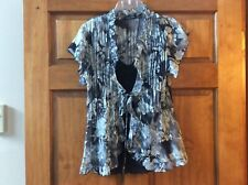 NOTATIONS NWT 2 PIECE LARGE BLACK CAMI WITH GRAY BLOUSE