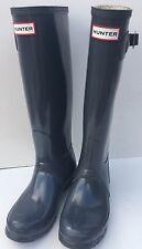 HUNTER Tall Size 7F Rain Boots Gray