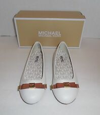 New Girls Size 1 Youth MICHAEL KORS Fulton Kris DD Dress Shoes Cream  Nib