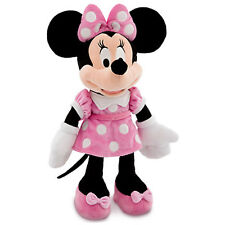 NWT Disney Store Minnie Mouse Plush Pink Polka Dots Medium 19""