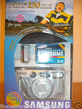 3S16 NEW BXD SAMSUNG FINO 130 DLX 35MM FILM CAMERA~38-135MM SHD LENS~SELF TIMER