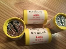 NZ/AU 2015 ANZAC 1 ROLL COINS COMMEMORATIVE COINS!!!!! RARE
