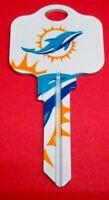 Great Gift Idea NFL Miami Dolphins KWIKSET KW1, KW10, KW11 UNCUT KEY BLANK