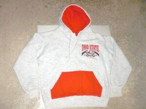 Vintage 90s OHIO STATE BUCKEYES Hoodie Sweatshirt Dodger Medium
