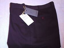 Canali Stretch Cotton Blend Cavalry Twill Burgundy Brown Pants NWT 36
