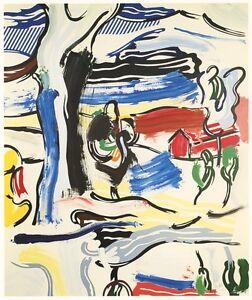 """Roy Lichtenstein """"The Old Tree"""" 1984"""