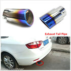 Slant Burnt Blue Titanium Car Stainless Steel Exhaust Tail Pipes Muffler Tips