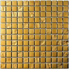LUXURY GOLD  12 x 12 Spanish glass mosaic tile for Backsplash or shower