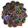 50PCS Neon Sign Stickers Colorful Decals Sticker to Laptop Luggage Skateboard
