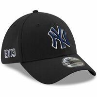 New York Yankees New Era MLB Team Established 39THIRTY Curve Flex Hat - Black
