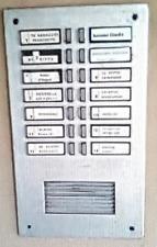 Kit Ricambio Portanome Urmet completo di Tasto di chiamata serie 625