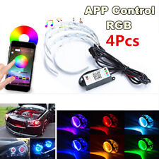 4x 12V 70W RGB LED Demon Eyes Phone APP Control For Car SUV Headlight Projector