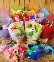Handmade Soap Flower Bouquet Roses Carnations Gift Bag/Box Wedding Christmas