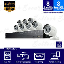 SDH-B74081-1TB REF- Samsung 8 CH. 1080p HD 1TB Security System with 8 Cameras