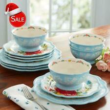 12-Piece Dinnerware Set, Pioneer Woman Sweet Rose Dining Serving Plates Bowls