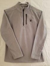 Spyder Boys Kids Fleece Long Sleeve Gray Half Zip Pullover Sweater Jacket Size L
