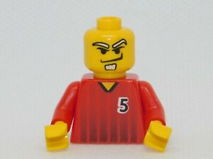 Lego 2 New Kids Playing Soccer Minifigures with Ball Net City Parts